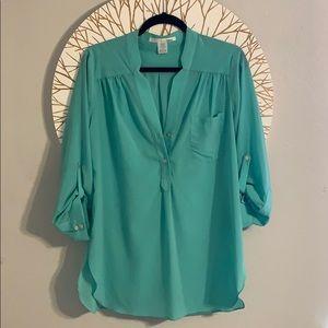 Ellison semi sheer mid length sleeve shirt